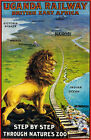 TX225 Vintage Uganda Railway British Africa Lion Travel Poster Re-Print A2/A3/A4