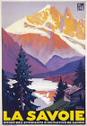 TX182 Vintage La Savoie Alps Winter French France Travel Poster Re-print A3/A4
