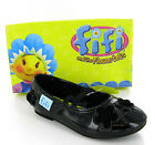 New Small Girls Fifi Black Patent School Party Dress Shoes Size 4-9