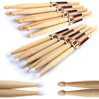5A 5B 7A Drum Sticks: 4 pairs of PP Maple Drumsticks Wood/Wooden Tip