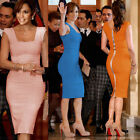 Womens Celebrity Party Office Wear Evening Tunic Sheath Knee Length Pencil Dress