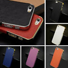 New Frame Luxury Leather Chrome Hard Back Case Cover For iPhone 5 5G 5S