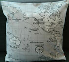 "1 CUSHION COVER- MAP col grey 12"",14""16,18"",20"" 22 24"""