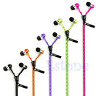 Candy Color Cool Mini Microphone Mic Fresh Earbuds Tangle-Free Zipper Earphones