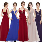 Womens New Sexy Deep V-neck Long Party Prom Evening Bridesmaid Dress 08083 6-18