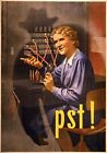 WB50 Vintage WW2 PST! German Careless Talk WWII World War Poster A1/A2/A3/A4