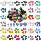 20Pcs Disco Ball Beads Spacers Czech Crystal Rhinestones Clay Round Wholesale