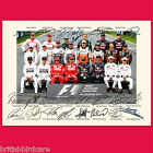 FORMULA 1 2014 Grand Prix Signed Autograph Photo Signed Repro A4 Print