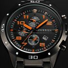 CURREN Mens Steel Date Display 6 Colors Analog Sport Quartz Wrist Watch