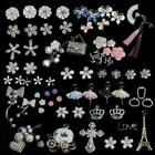 3D Crystal Diamond Bling Flowers Bowknot Decoration Art cell phone Case DIY