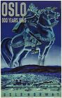 TX252 Vintage 1950's Oslo Norway Viking Travel Poster Re-Print A1/A2/A3/A4