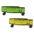2 Pack As seen on TV EZ Eyes 104-Key USB Keyboard & Optical Mouse Kit - Zk520