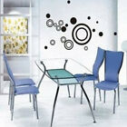 3D Stereo Circle Ring Wall Stickers Mural Indoor Wall Decal Art Decoration