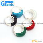 Pretty mixed beads tibetan silver base ring 10x22mm 6 materials selectable