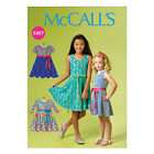 McCall's 6915 Sewing Pattern to MAKE Easy Girls' Pullover Stretch Dresses