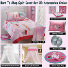 BORN TO SHOP - Quilt Cover Set, Cushion, Floor Rug, Canopy - SINGLE DOUBLE QUEEN