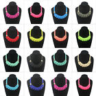 Hot Sale POP Mixed Fluorescent Color Exaggerate Bib Chunky clavicle Necklace