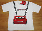 Cars Lightning McQueen Boy Cotton T-Shirt #509 White Size 4-10 age 3-10