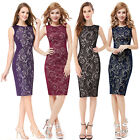 Mid-Length Office Lady Casual Pencil Cocktail Dress 05336 Size 08 10 12 14 16 18