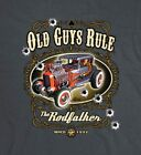 OLD GUYS RULE THE RODFATHER MEN'S CHARCOAL TEE SHIRT