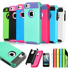 Colorful Heavy Duty Hybrid Rugged Hard Case Cover For iPhone 5C C+Protector