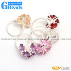 New 9mm faceted beads flower tibetan silver ring fashion jewelry  ,5 materials