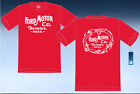 Ford Motor Company Detriot Mich T-Shirt Red Cotton Mens Shirt 2-Sided Logo
