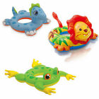 INTEX INFLATABLE ANIMAL SWIM RINGS POOL FLOAT LION FROG DINOSAUR SUMMER TOY