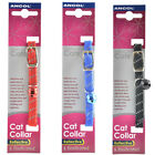 Ancol Reflective All Elastic Cat Collar, red, blue,black,pink