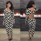 Women New Fashion Celeb Style Long Sleeve Ladies Cocktail Party Jumpsuit Dress