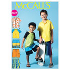 McCall's 6548 Easy Sewing Pattern to MAKE Cool Boys' Shirt T Shirt & Shorts