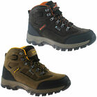 MENS HI-TEC WATERPROOF HIKING BOOTS SIZE UK 7 - 13 SUEDE WALKING BROWN HILLSIDE