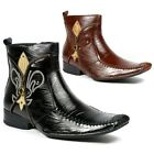 Delli Aldo Mens Dress Ankle Boots Shoes Celtic Styled in Italy w/ Leather Lining