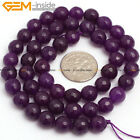 """Faceted Purple Jade Stone Beads For Jewelry Making 15"""" Wholesale Jewlery Beads"""