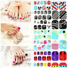 Fashion Toe Nail Art Stickers 3D Decals Crystal Glitter Foils Tips Decoration