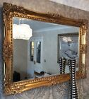 X LARGE Antique GOLD Shabby Chic Ornate Decorative Wall Mirror FREE POSTAGE