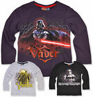 Boys Star Wars T Shirt Long Sleeve Kids Top Official Brand New Age 3 4 6 8 Years