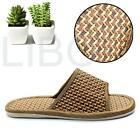 Rattan Sandals Home Indoor Bamboo Linen Flat Slip-resistant Outsole Slippers
