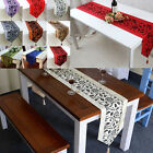 """79""""X13"""" Table Runner Home Wedding Party Banquet Decoration Flocked Damasks Cloth"""