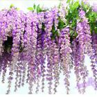 27.5'' Artificial Silk Wisteria Flower Vine Wedding Home Garden Hanging Decor