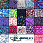Paracord 550 Purple, Blues, and Pinks, 10, 25, 50, 100 Feet