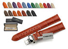 CHIMAERA Croco Style Genuine Leather Watch Band Strap Clasp 16mm 18mm 20mm 22mm