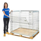 Pallet Cage Storage Unit Stackable Mesh Stillage Warehouse Crate Store 4 Sizes