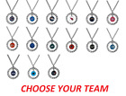NFL Football Team Logo Womens Ladies Rhinestone Hoop Necklace Pick Your Team on eBay