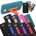 Impact Stand Hybrid Hard Soft Case Silicone Gel Skin Cover For LG Phones