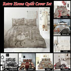 Geisha Sign London Hollywood Retro Home Quilt Cover Set SINGLE DOUBLE QUEEN KING