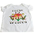 I Love Moms Tattoos Child Authentic Spencers Tshirt Novelty Crew Neck White
