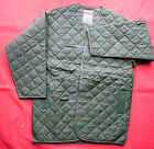 COLD WEATHER LINER JACKET (170/112cm) BRITISH ARMY QUILTED VELCRO GREEN *NEW*