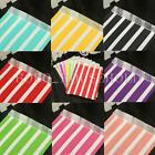 25X Stripe Paper Party Bags Snack Sweet Treats Lolly Favour Kids Candy Buffet