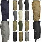 NEW MENS SUMMER COTTON CURTO ELASTIC SWIM BEACH CARGO COMBAT 3/4LONG SHORTS ZIP